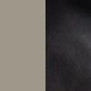 beige grey/black leather