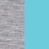 light grey melange/turquoise